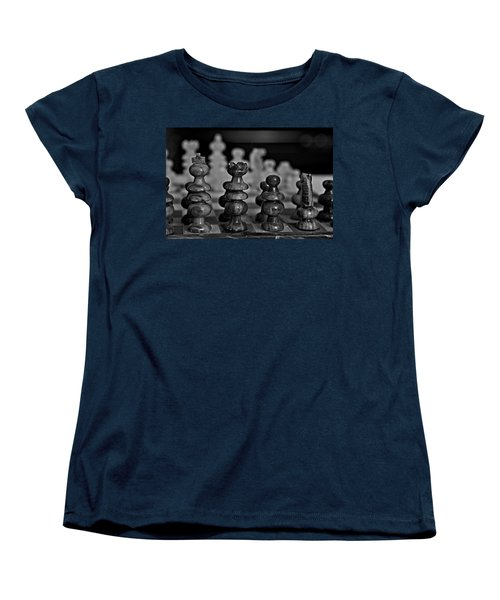 Women's T-Shirt (Standard Cut) featuring the photograph Playing Chess 2 by Cendrine Marrouat