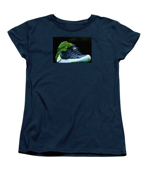 Women's T-Shirt (Standard Cut) featuring the photograph Playing With Dads Shoe 01 by Kevin Chippindall