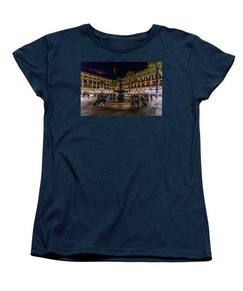Plaza Reial Women's T-Shirt (Standard Cut) by Randy Scherkenbach