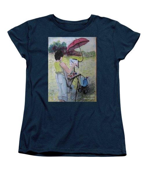 Plein-air Artist Sandra Women's T-Shirt (Standard Cut) by Gretchen Allen
