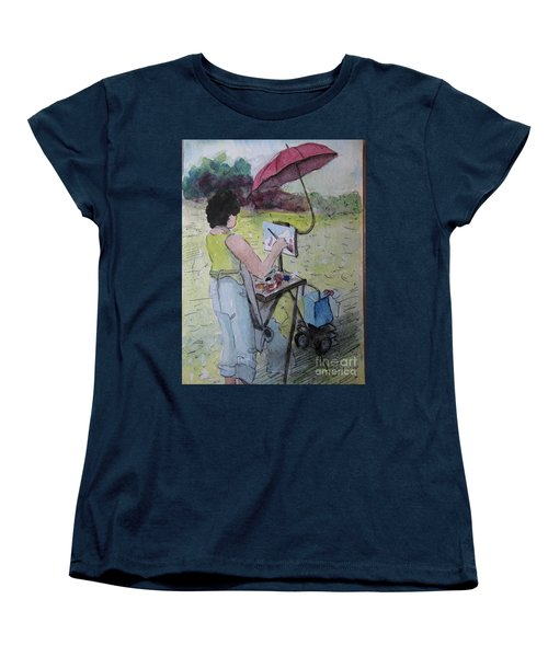 Plein-air Artist Sandra Women's T-Shirt (Standard Cut)