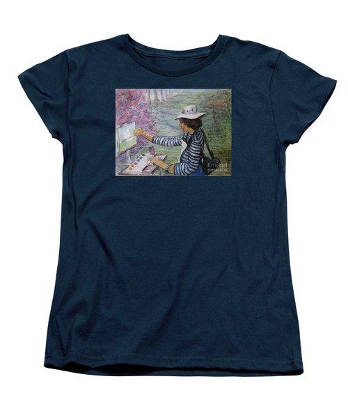 Plein-air Painter  Women's T-Shirt (Standard Cut) by Gretchen Allen