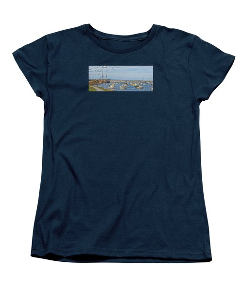 Plymouth Harbor In September Women's T-Shirt (Standard Cut) by Constantine Gregory
