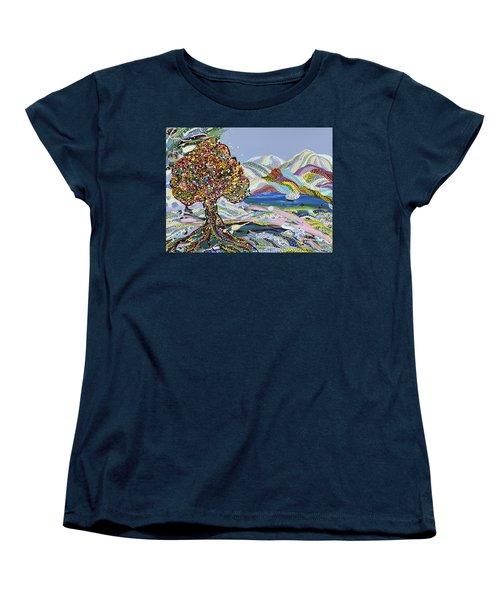 Poet's Lake Women's T-Shirt (Standard Cut) by Erika Pochybova