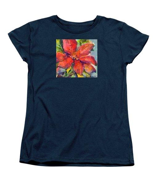 Poinsettia Women's T-Shirt (Standard Cut) by Dragica Micki Fortuna