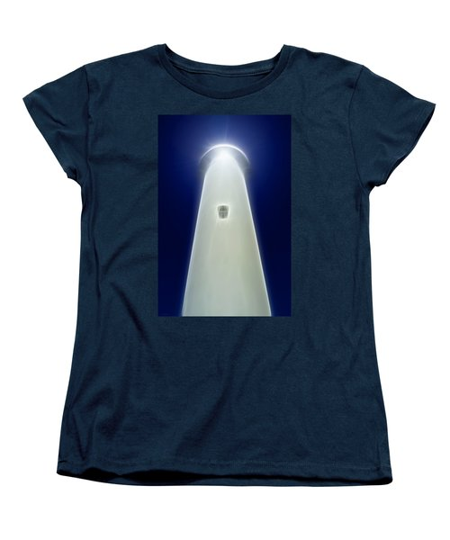 Women's T-Shirt (Standard Cut) featuring the digital art Point Arena Lighthouse by Holly Ethan