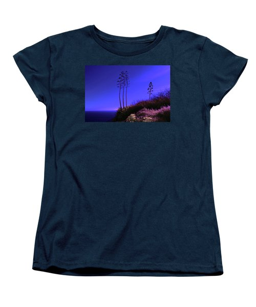 Women's T-Shirt (Standard Cut) featuring the photograph Point Fermin In Infrared by Randall Nyhof
