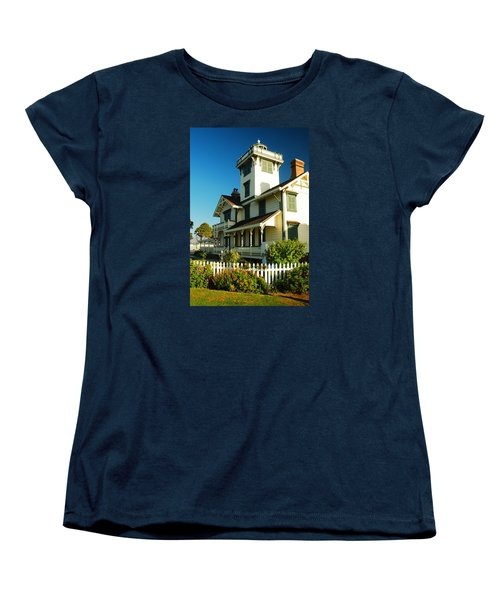 Women's T-Shirt (Standard Cut) featuring the photograph Point Fermin Lighthouse by James Kirkikis