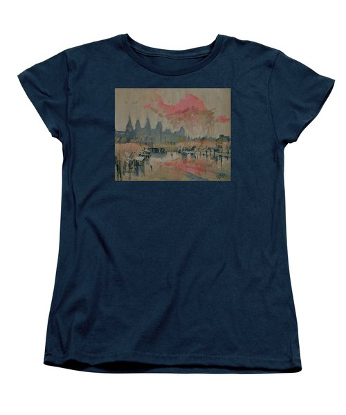 Pokkenweer Museum Square In Amsterdam Women's T-Shirt (Standard Fit)