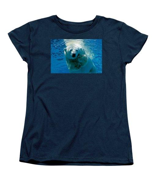 Women's T-Shirt (Standard Cut) featuring the photograph Polar Bear Contemplating Dinner by John Haldane