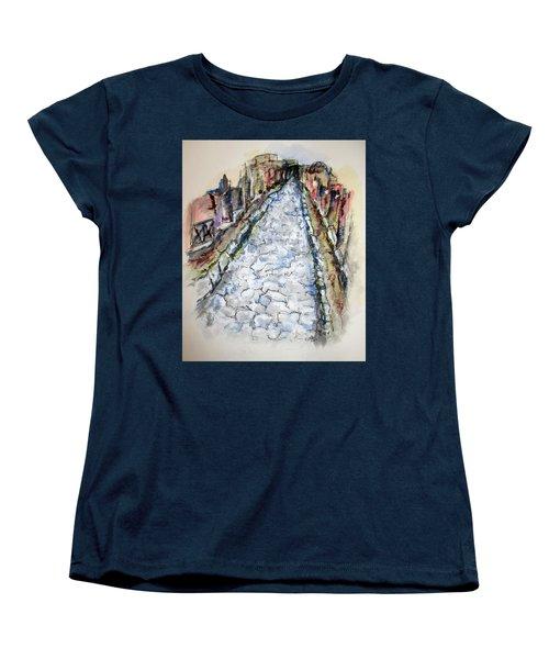 Pompeii Road Women's T-Shirt (Standard Cut) by Clyde J Kell
