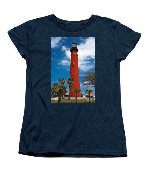 Ponce Inlet Lighthouse Women's T-Shirt (Standard Cut) by Christopher Holmes