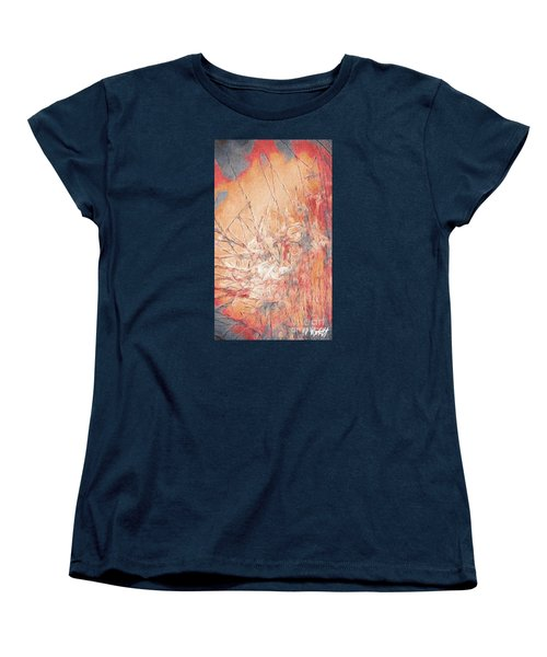 Women's T-Shirt (Standard Cut) featuring the photograph Pond In Fall by William Wyckoff