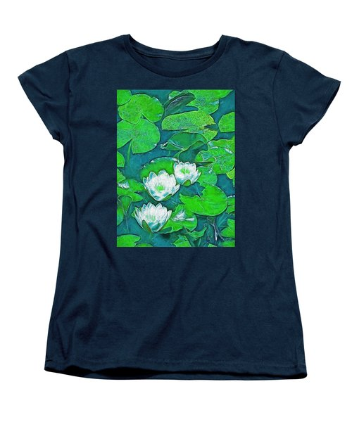 Pond Lily 2 Women's T-Shirt (Standard Cut) by Pamela Cooper