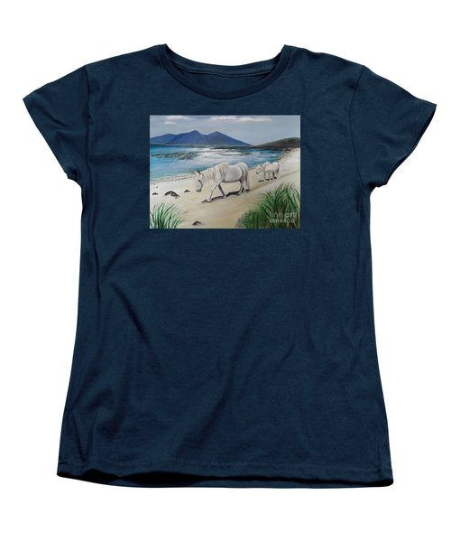 Ponies Of Muck- Painting Women's T-Shirt (Standard Cut) by Veronica Rickard
