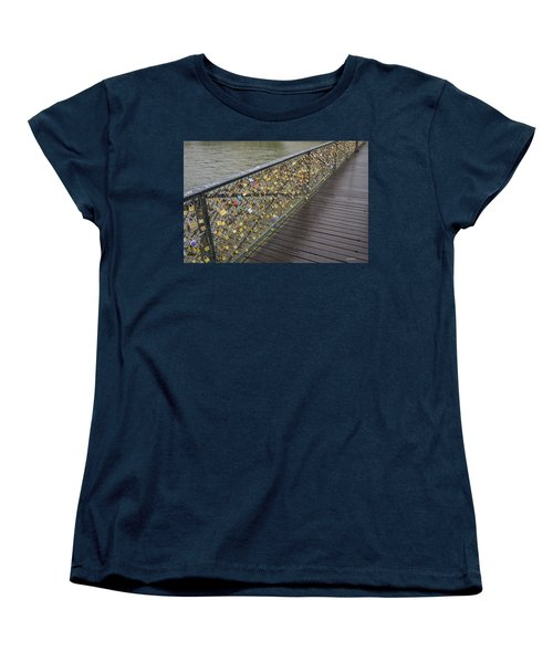 Pont Des Artes Women's T-Shirt (Standard Cut) by Allen Sheffield