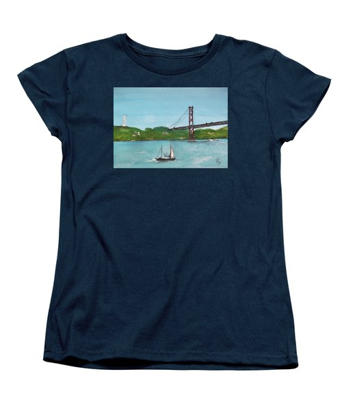 Ponte Vinte E Cinco De Abril Women's T-Shirt (Standard Cut) by Carole Robins