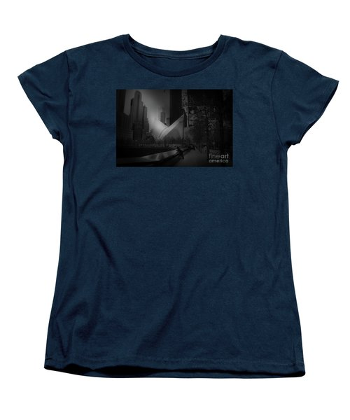 Pool Station, Bw Women's T-Shirt (Standard Cut) by Paul Cammarata