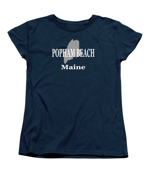 Women's T-Shirt (Standard Cut) featuring the photograph Popham Beach Maine State City And Town Pride  by Keith Webber Jr