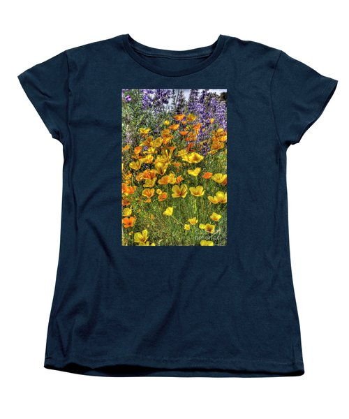 Women's T-Shirt (Standard Cut) featuring the photograph Poppies And Lupines by Jim and Emily Bush