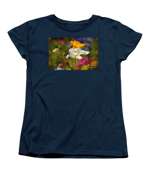 Poppies In The Spring Women's T-Shirt (Standard Cut) by Deb Halloran