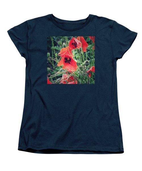 Poppies Women's T-Shirt (Standard Cut) by Karen Stahlros