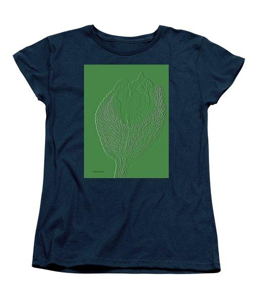 Poppy Embossing  Women's T-Shirt (Standard Cut)