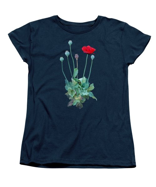 Poppy Women's T-Shirt (Standard Cut) by Ivana Westin