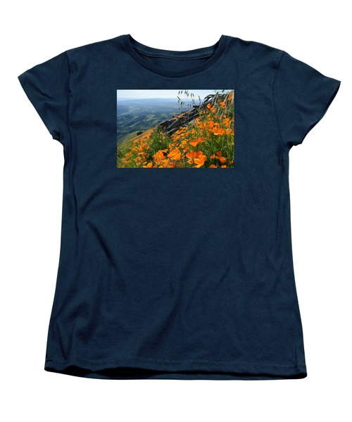 Poppy Mountain  Women's T-Shirt (Standard Cut) by Kyle Hanson