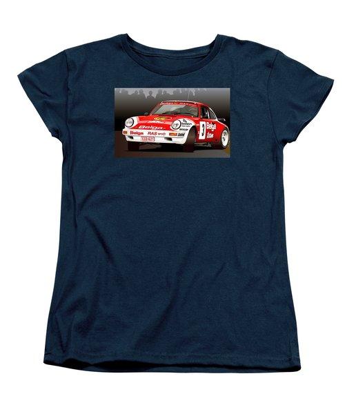 Porsche 911 Rally Illustration Women's T-Shirt (Standard Cut) by Alain Jamar