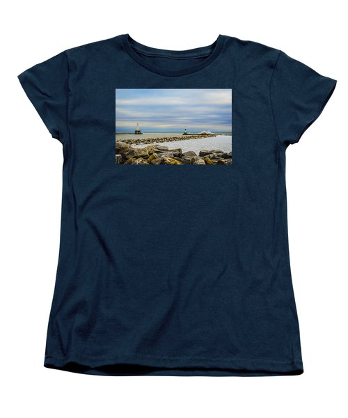 Port Washington Light 5 Women's T-Shirt (Standard Cut) by Deborah Smolinske