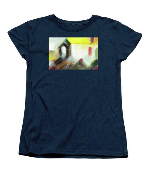 Women's T-Shirt (Standard Cut) featuring the painting Portal by Anil Nene