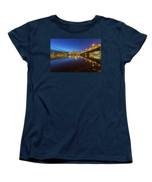 Portland Downtown Blue Hour Women's T-Shirt (Standard Fit)