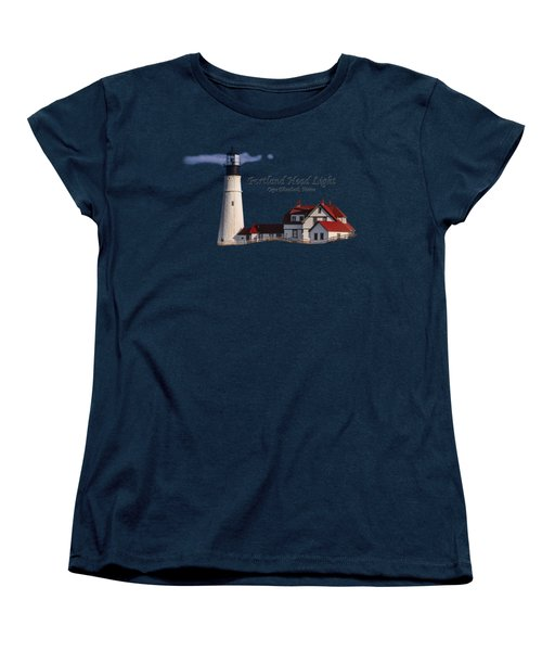 Portland Head Light No. 43 Women's T-Shirt (Standard Cut) by Mark Myhaver