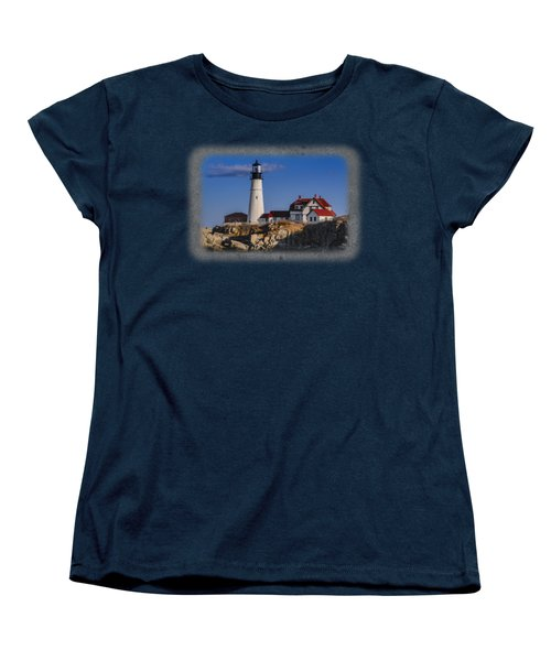 Portland Head Light No. 44 Women's T-Shirt (Standard Cut) by Mark Myhaver