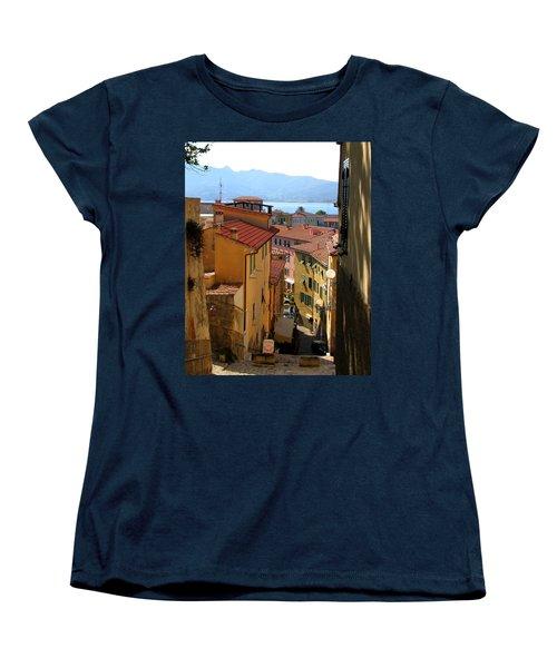 Portoferraio Elba Women's T-Shirt (Standard Cut) by Carla Parris