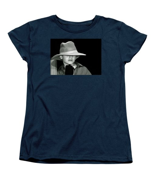 Portrait Of A Boy With A Hat Women's T-Shirt (Standard Cut) by Alex Galkin