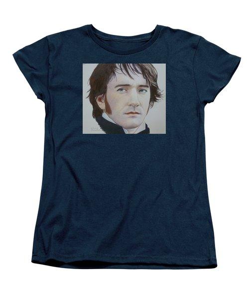 Women's T-Shirt (Standard Cut) featuring the mixed media Portrait Of A Gentleman by Constance DRESCHER