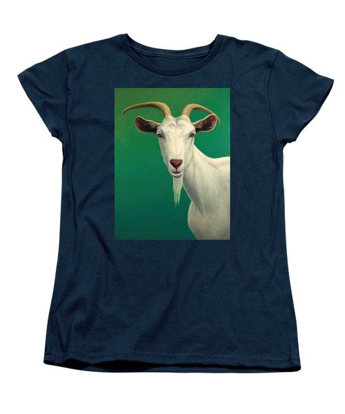 Portrait Of A Goat Women's T-Shirt (Standard Cut) by James W Johnson