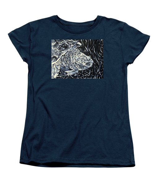 Women's T-Shirt (Standard Cut) featuring the painting Portrait Of A Turtle by Fabrizio Cassetta