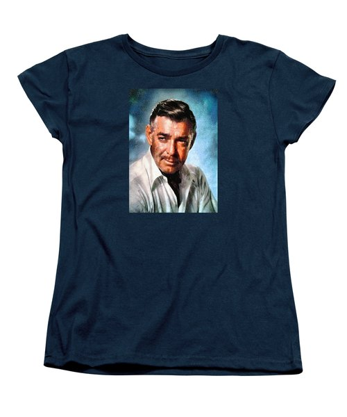 Portrait Of Clark Gable Women's T-Shirt (Standard Cut) by Charmaine Zoe