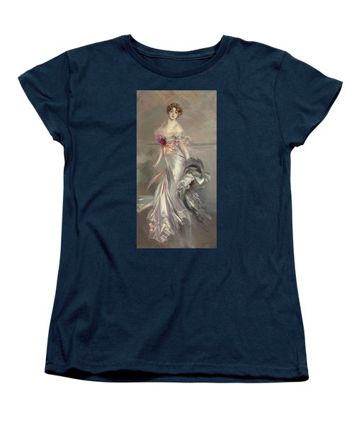 Portrait Of Marthe Regnier Women's T-Shirt (Standard Cut) by Giovanni Boldini