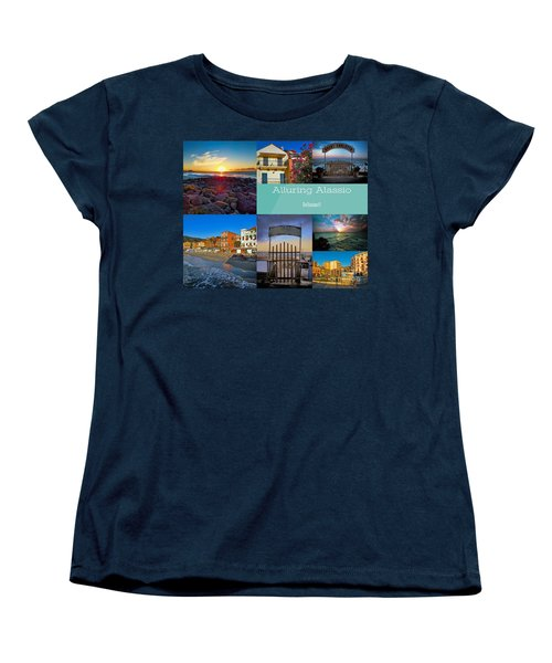 Postcard From Alassio Women's T-Shirt (Standard Cut) by Karen Lewis