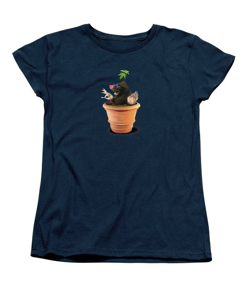 Women's T-Shirt (Standard Cut) featuring the drawing Pot Wordless by Rob Snow