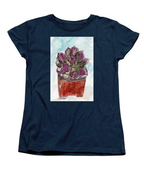Potted Cactus Women's T-Shirt (Standard Cut)