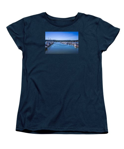 Women's T-Shirt (Standard Cut) featuring the photograph Poulsbo Marina by Randy Bayne