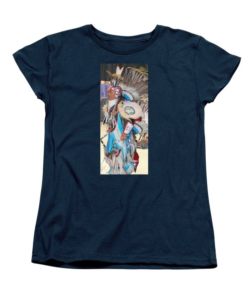 Pow Wow Dancer Women's T-Shirt (Standard Cut) by Audrey Robillard