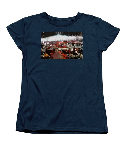Prague Old Town Poster Women's T-Shirt (Standard Cut) by Kai Saarto