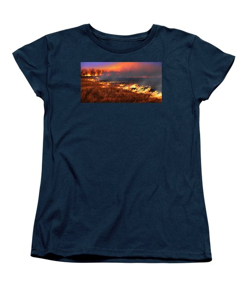 Prairie Burn Women's T-Shirt (Standard Cut) by Rod Seel