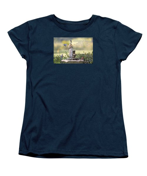 Prayer For The Animals That Bless Our Lives Women's T-Shirt (Standard Cut) by Bonnie Barry